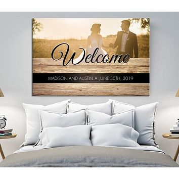 Welcome House Wall Art Canvas Print