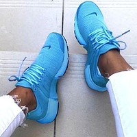 NIKE Air Presto Fashion Women Men Casual Breathable Running Sport Shoes Sneakers Blue