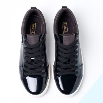 Bershka United Kingdom - BSK patent sneakers