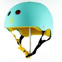 Triple Eight Brainsaver Multi-Impact Skate Helmet - baja teal rubber - Skate Shop»Protective Skate Gear»Skateboarding Helmets