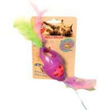 Ethical Cat - Tie Dye Jingle Roller/feathers Catnip