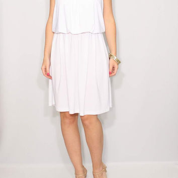 Short white Dress Summer dress