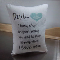 Pillows for dad gift for dad throw pillow cotton canvas man cave home decor