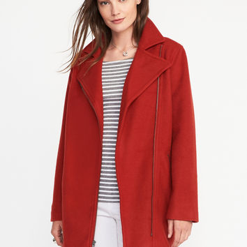 Long Moto Jacket for Women | Old Navy