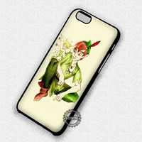 With The Fairy Peter Pan Tinkerbell - iPhone 7 6 5 SE Cases & Covers