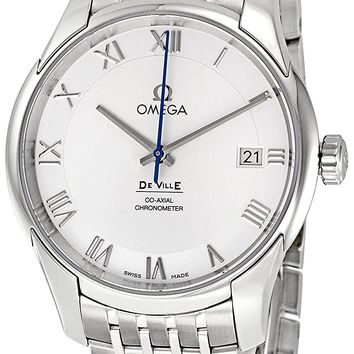 Omega De Ville Automatic Stainless Steel Mens Watch Silver Dial Calendar 431.10.41.21.02.001