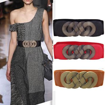 Vintage Wide Cloth Waist Girdle Belt [2974245156]