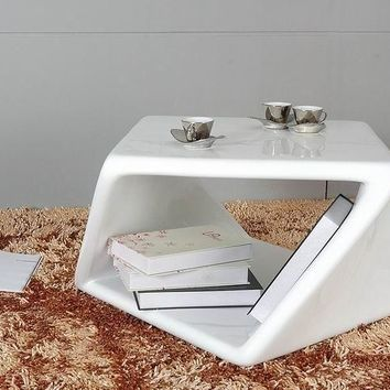 Modrest Bent White End Table