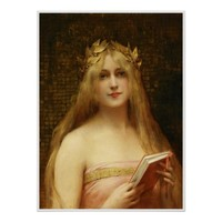 Golden Girl, gorgeous antique art print