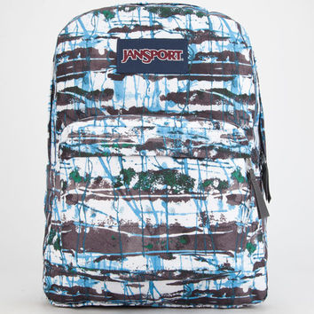 Jansport Superbreak Backpack Multi Blue Splish Splash One Size For Men 24843595701