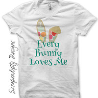 Bunny Ears Iron on Transfer - Iron on Easter Shirt / Every Bunny Loves Me Tshirt / Baby Boy Easter Outfit / Bunny Ears Toddler Shirt IT418-C