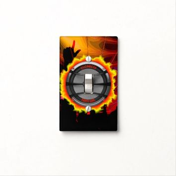 Colorful Loud Music Speaker Dancing Party Light Switch Cover