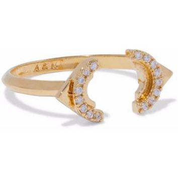 Fitzgerald Circle gold-tone crystal ring | ASTRID & MIYU | Sale up to 70% off | THE OUTNET