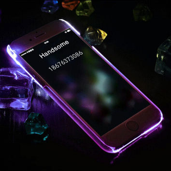 Purple Light Up Case For iPhone 7 se 5s 6 6s Plus +Gift Box
