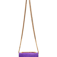 Mini Suede Trouble Bag in Violet