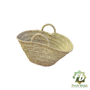 Natural Basket Beldi Small, French Basket, Moroccan Basket, straw bag, french market basket, Beach Bag, straw bag ,natural baskets
