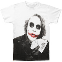 Batman Men's  Joker Poker T-shirt Black