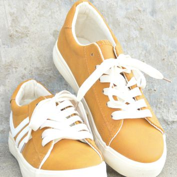 Here And Now Sneaker - Mustard