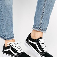 Vans Old Skool Classic Sneakers In Black at asos.com
