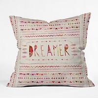Bianca Green Dreamer Pink Throw Pillow