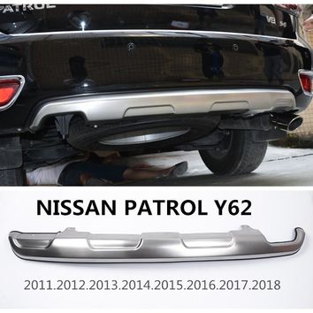 For NISSAN PATROL Y62 2011.2012.2013.2014.2015.2016.2017.2018 BUMPER GUARD BUMPER Plate High Quality Stainless Steel Accessories