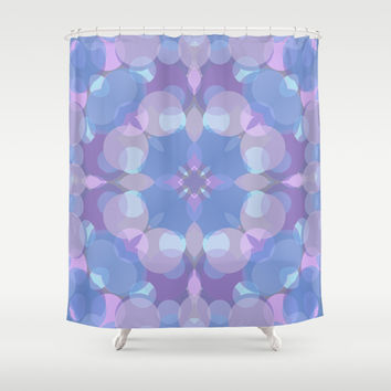Pastel Pink and Blue #2 Shower Curtain by Lena Photo Art
