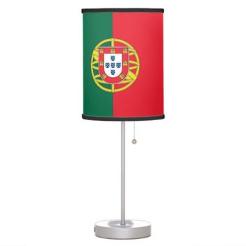 Patriotic table lamp with Flag of Portugal