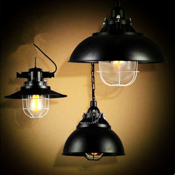 Iron Wrount Loft Style Industrial Light Fixtures Retro Vintage Lamp Edison Pendant Lights Lamparas Luminaire Hanglamp