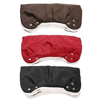 Waterproof Stroller Warmer Gloves Winter Baby Carriage Pushchair Thickened Cloth Hand Cover Buggy Clutch Cart Muff Glove