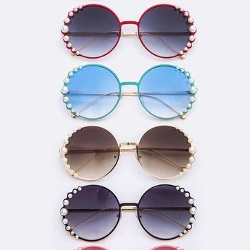 Round Pearl accented Starlet Sunglasses