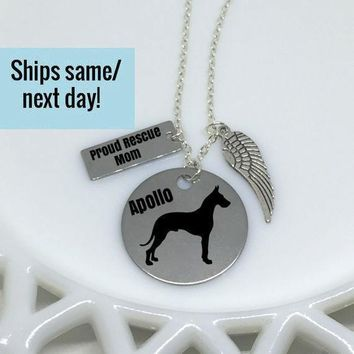 Rescue Mom, Rescue Dog Mom, Dog Mom, Rescue Mom Necklace, Rescue Dog, Adopt Don't Shop, Dog Mom Jewelry, Gift for Her, Best Friend Gift