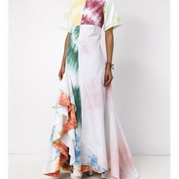 ROSIE ASSOULIN   Gonzo Tie-Dye Maxi Dress   brownsfashion.com   The Finest Edit of Luxury Fashion   Clothes, Shoes, Bags and Accessories for Men & Women