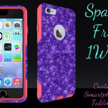 "iPhone 6 Case - OtterBox Commuter Series - Retail Packaging - 4.7"" iPhone 6 Glitter Purple/Pink"