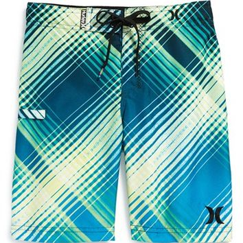 Boy's Hurley 'Ray' Stripe Board Shorts