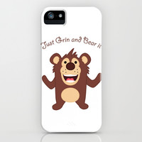 Just Grin and Bear it iPhone & iPod Case by DanielBergerDesign
