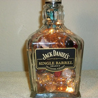Jack Daniels Single Barrel Select Tennessee Whiskey Decanter Bottle Lights