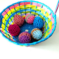 Easter Egg Scrubber Buddies: Set of 6 choose your colors, practical decorating gift or basket fillers Nylon multipurpose cleaning product
