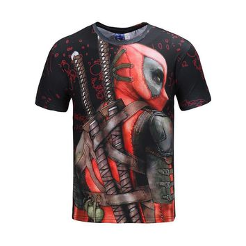 Deadpool Dead pool Taco  Cosplay Costume T shirt Men's 2018 New Summer Top Funny T-shirts Camisetas Hombre Halloween Carnival Costumes For Men AT_70_6