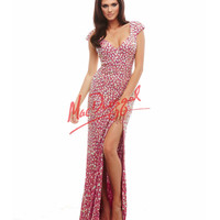 Crystal Raspberry Pink Sweetheart Gown