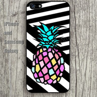 Black and white pineapple iphone 6 6 plus iPhone 5 5S 5C case Samsung S3,S4,S5 case Ipod Silicone plastic Phone cover Waterproof