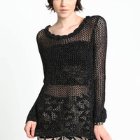 LOOK AND SEE SPARKLING KNIT SWEATER