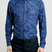 Blue Mist Viscose Long Sleeve Smart Shirt