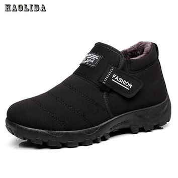 2017 New Men Boots Winter With Velvet Warm Snow Boots Men Shoes Footwear Fashion Male Rubber Winter Ankle Boots Work Shoes
