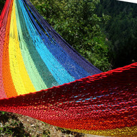 Colorful Mexican hammock,Family size