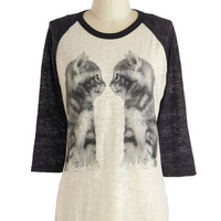 ModCloth Cats Mid-length 3 Who You Lookin' Cat? Top