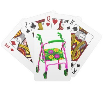 "Cheap Gag Gift ""Over the Hill"" Playing Cards Funny"