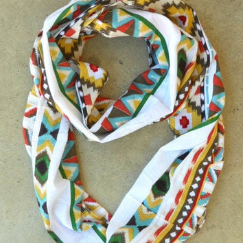 Dreamcatcher Infinity Scarf in Rust [3635] - $21.00 : Vintage Inspired Clothing & Affordable Fall Frocks, deloom   Modern. Vintage. Crafted.