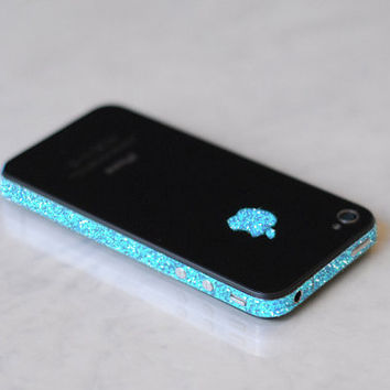 iPhone 4S Antenna Wrap Sparkling Turquoise by kellokult on Etsy