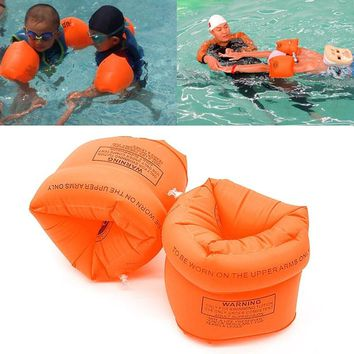 One Pair Swimming Arm Band Ring Floating Inflatable Sleeves For Adult Child Swimming Water Games Swim Arm Ring