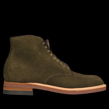 UNIONMADE - Alden - Bartlett Indy Boot in Hunting Green Suede D3808H